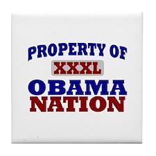 Obama Nation Tile Coaster