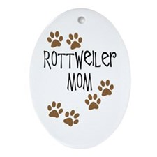 Rottweiler Mom Oval Ornament