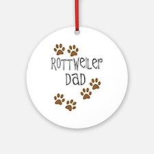 Rottweiler Dad Ornament (Round)
