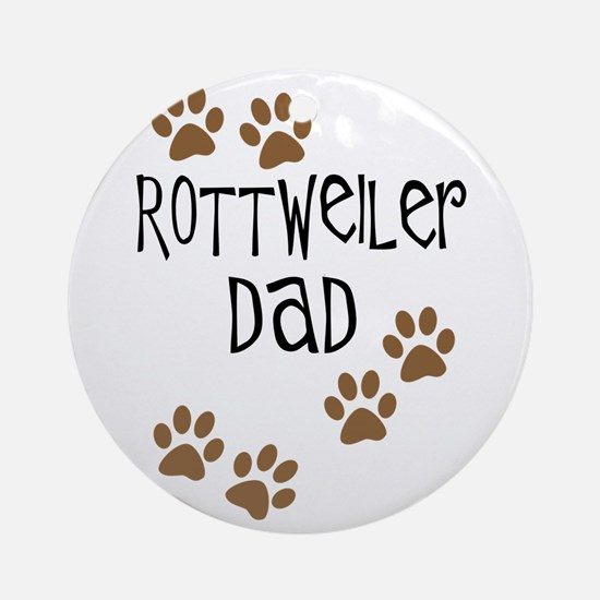 Rottweiler Dad Ornament (Round)