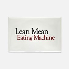 Lean Mean Eating Machine Rectangle Magnet