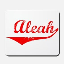 Aleah Vintage (Red) Mousepad