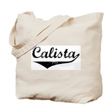 Calista Vintage (Black) Tote Bag