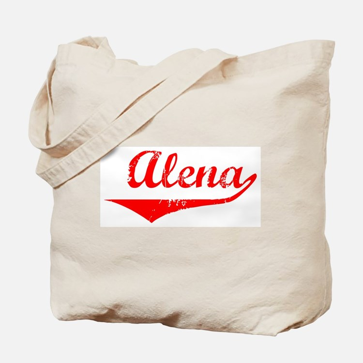 Alena Vintage (Red) Tote Bag