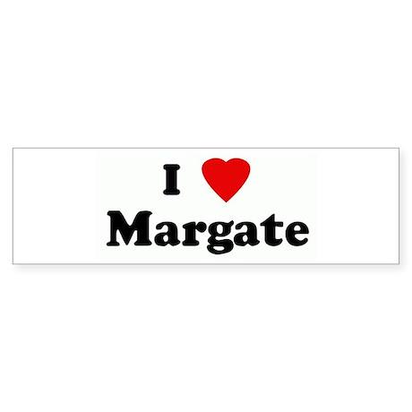 I Love Margate Bumper Sticker