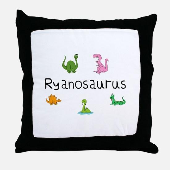 Ryanosaurus Throw Pillow