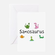 Samosaurus Greeting Card