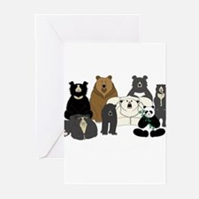 Bears world Greeting Cards