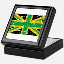 Jamaican British Flag Keepsake Box