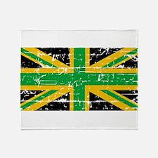 Jamaican British Flag Throw Blanket