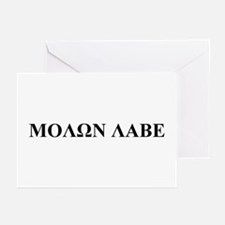 Molon Labe Greeting Cards (Pk of 10)