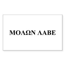 Molon Labe Rectangle Decal