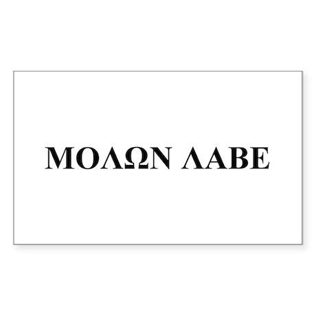 Molon Labe Rectangle Sticker