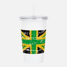 Jamaican British Flag Acrylic Double-wall Tumbler