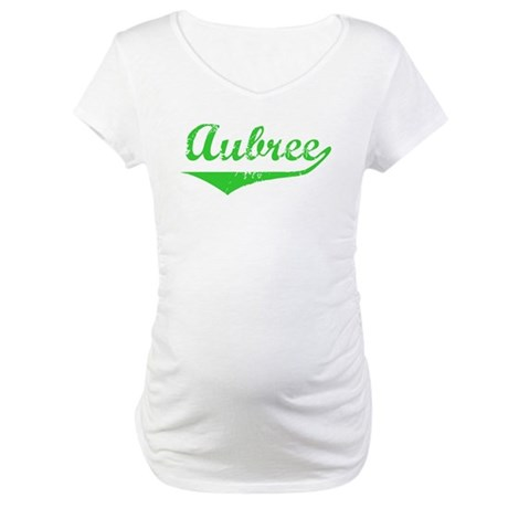 Aubree Vintage (Green) Maternity T-Shirt
