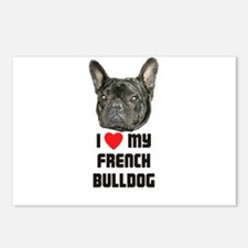 I love My French Bulldog Postcards (Package of 8)