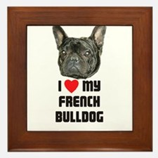 I love My French Bulldog Framed Tile