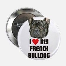 "I love My French Bulldog 2.25"" Button"