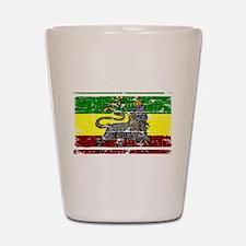 Rastafari Flag Shot Glass