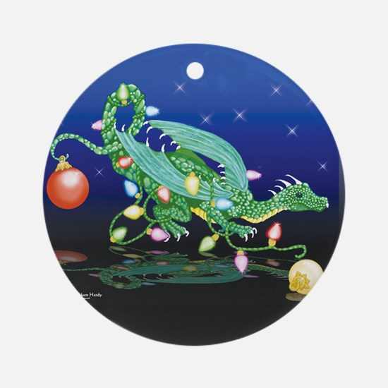 Christmas Dragon Ornament (Round)