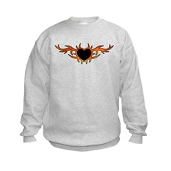 Flame Heart Tattoo Sweatshirt