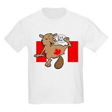 Beaver - Colour + Flag Tiny + Maple Leaf Kids T-Sh