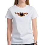 Flame Heart Tattoo Women's T-Shirt