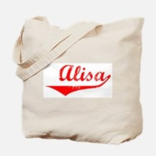 Alisa Vintage (Red) Tote Bag