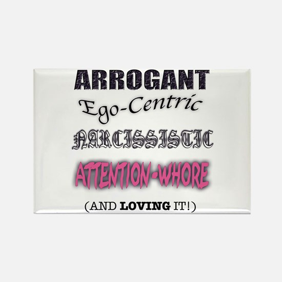 Attention Whore Rectangle Magnet