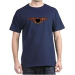 Flame Heart Tattoo Dark T-Shirt