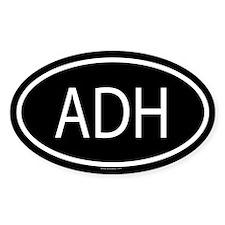 ADH Oval Decal