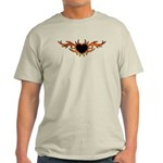 Flame Heart Tattoo Light T-Shirt