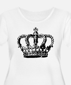 Black Crown Plus Size T-Shirt