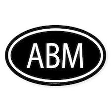 ABM Oval Decal