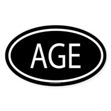 AGE Oval Decal