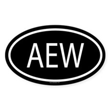 AEW Oval Decal