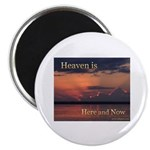 Heaven Here and Now - Square Magnet