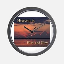 Heaven Here and Now - Square Wall Clock