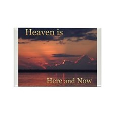 Heaven Here and Now - Square Rectangle Magnet
