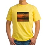 Heaven Here and Now - Square Yellow T-Shirt