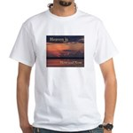Heaven Here and Now - Square White T-Shirt