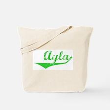 Ayla Vintage (Green) Tote Bag