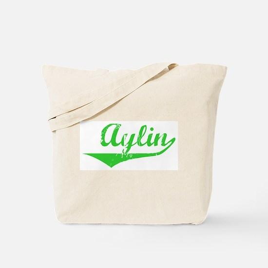 Aylin Vintage (Green) Tote Bag