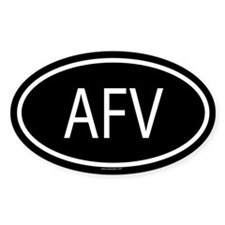 AFV Oval Decal