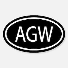 AGW Oval Decal