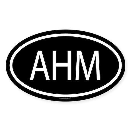 AHM Oval Sticker