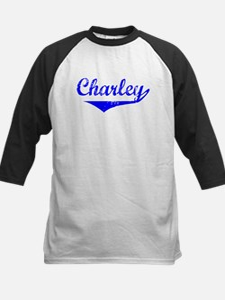 Charley Vintage (Blue) Kids Baseball Jersey