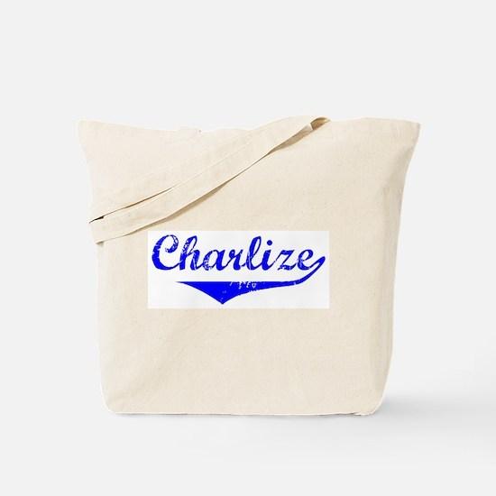 Charlize Vintage (Blue) Tote Bag