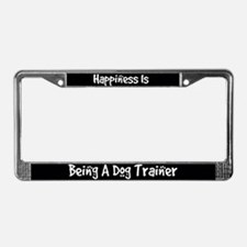 Happiness Dog Trainer License Plate Frame