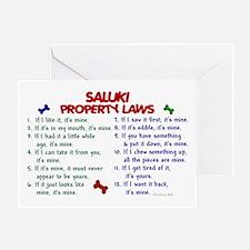 Saluki Property Laws 2 Greeting Card